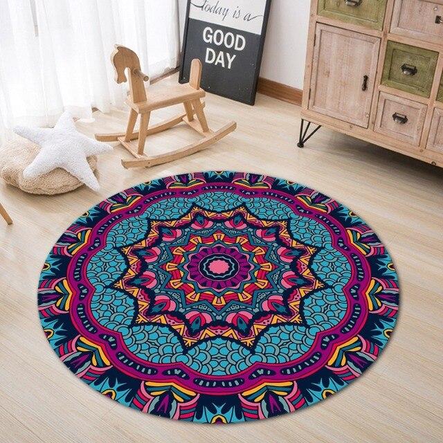 Tapis sol ronds Oriental Violet Salon Chambre