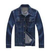 Plus Size Denim Jackets Men 4XL 5XL 6XL 7XL 8XL Spring Autumn Casual Blue Jean Jacket