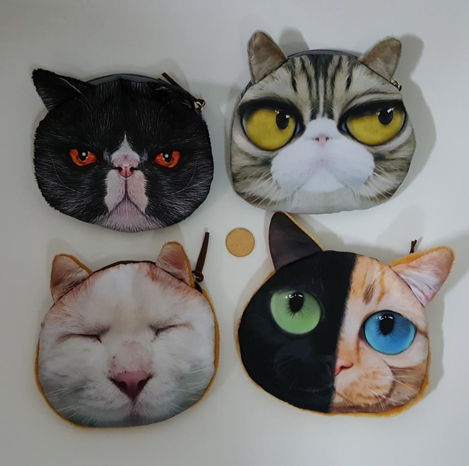 Cute cat face coin purse for girls & small gift bags for children