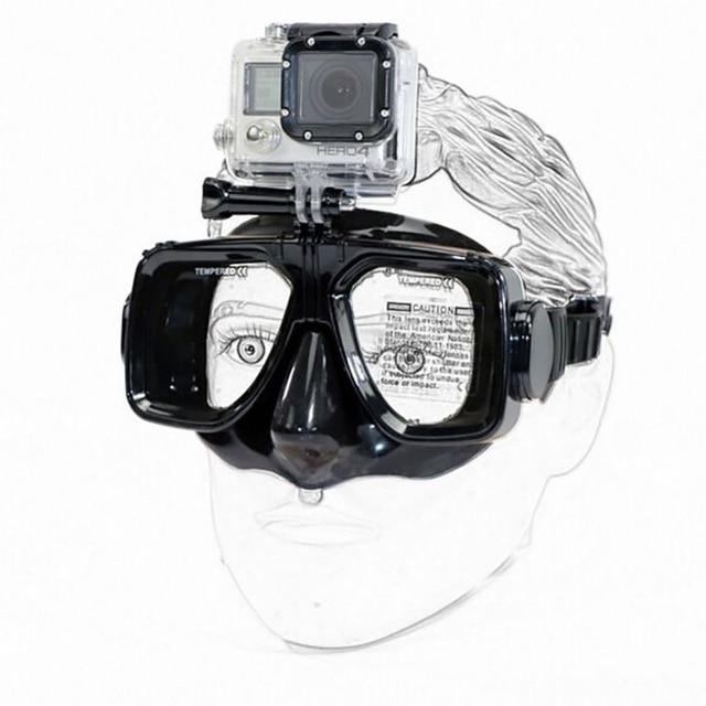 Gopro hero 2 3 3 + 4 para venta caliente de alta calidad de templado de buceo scuba máscara de buceo natación