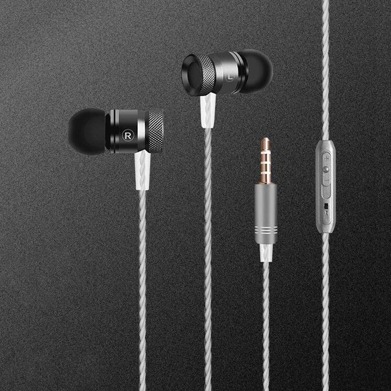 3,5 mm hörlurar i hörlurar för telefon med hörlurar på hörlurar på hörlurar med stereo hörlurar med hörlurar med mikrofon för IOS Android-telefon