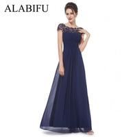 ALABIFU Chiffon Summer Dress Women 2018 Elegant Slim Lace Long Party Dress Wedding Bridesmaids Maxi Dresses vestidos ukraine