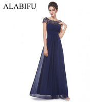 ALABIFU Chiffon Summer Dress Women 2019 Elegant Slim Lace Long Party Dress Wedding Bridesmaids Maxi Dresses vestidos ukraine