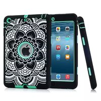 For IPad Mini 3 2 1 Rugged Floral Print Case Cover Shockproof Heavy Duty Rubber Skin