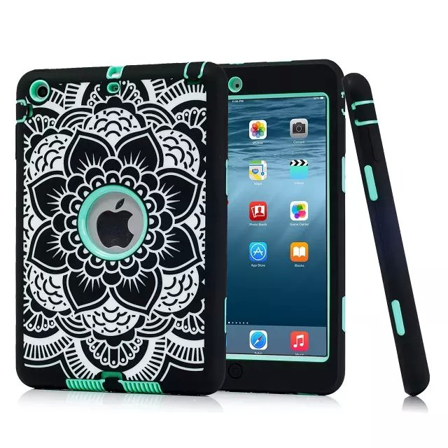 Aliexpress Com For Ipad Mini 3 2 1 Case Cover Rugged Fl Print Shockproof Heavy Duty Rubber Skin Le Conque Capa From