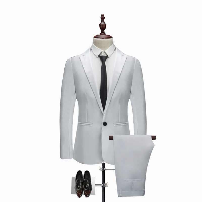 Oeak 男性クラシック 2 個ブレザー & パンツスーツセットフォーマルビジネスブレザーセットスリムプラスサイズ 3XL セットウェディングパーティーセット