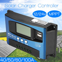 30A/40A50A60A 12V/24V Auto work Solar Charge Controller PWM with LCD Dual USB Output Solar Cell Panel Charger Regulator PV Home(China)