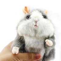 Hot Sale Super Likable Hamster Copy Voice Pet Recorder Talking Hamster Plush Toy Funny Lovely Taking