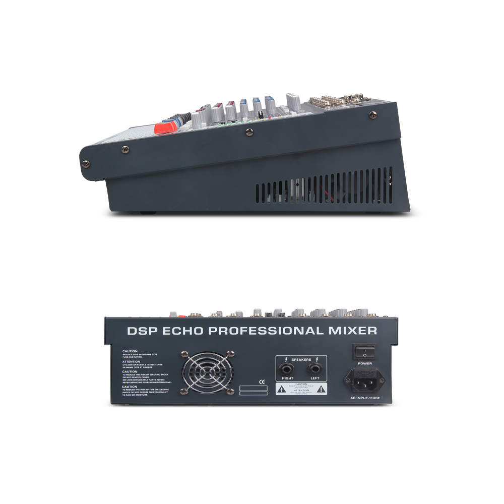 Good quality Clean sound 8 Channels 360 Watt Power Amplifie Mixer Digital Audio dj controller with 48V Phantom Power USB Slot in DJ Equipment from Consumer Electronics