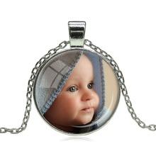 Foto PERSONALIZADA Colgante Collar Personalizado Foto de Su Bebé Niño Regalo Mamá Papá Abuelo Amaba Un Regalo para Miembro de La Familia