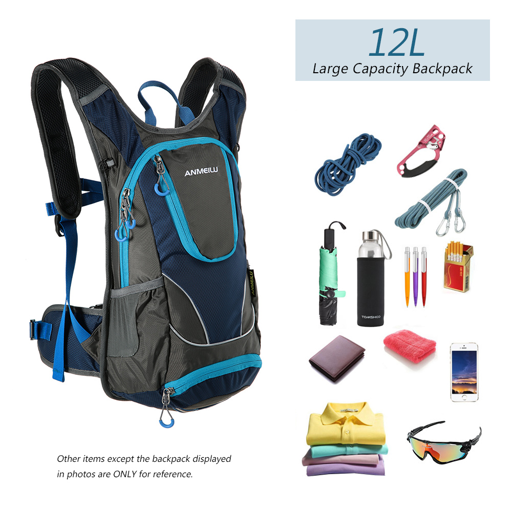 feb41a4f2137 ANMEILU 12L Waterproof Climbing Backpack Ultralight Hydration Water Bladder  Pack Bag with Rain Cover Helmet Cover Camping Hiking-in Climbing Bags from  ...