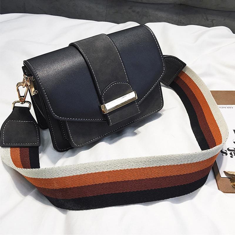 Baggage girl 2019 new fashion chic Korean version recreational oblique Bag retro individuality ins collision color small square