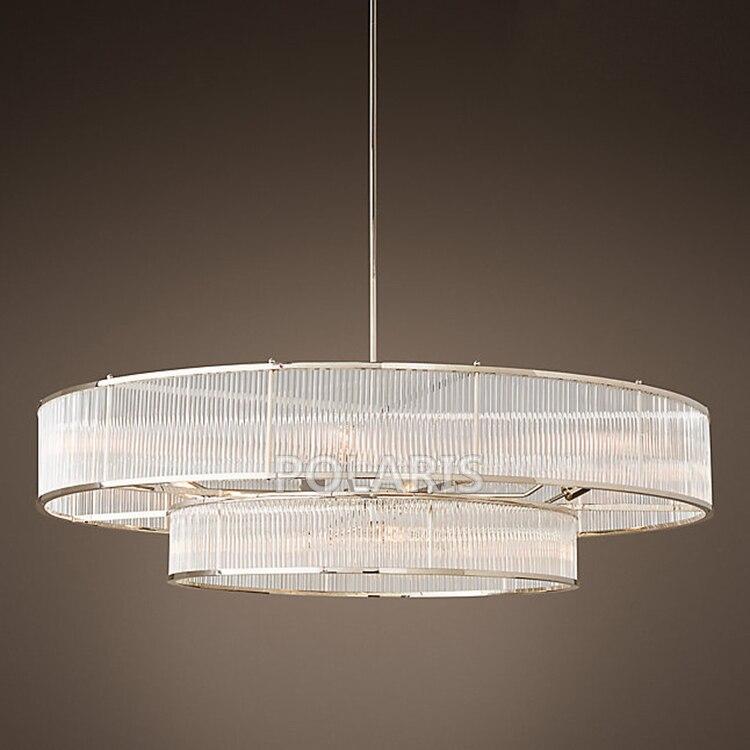 Lustre en verre Vintage moderne de tige allumant la lumière pendante de lustres de rétro LED pour la décoration de Restaurant d'hôtel à la maison