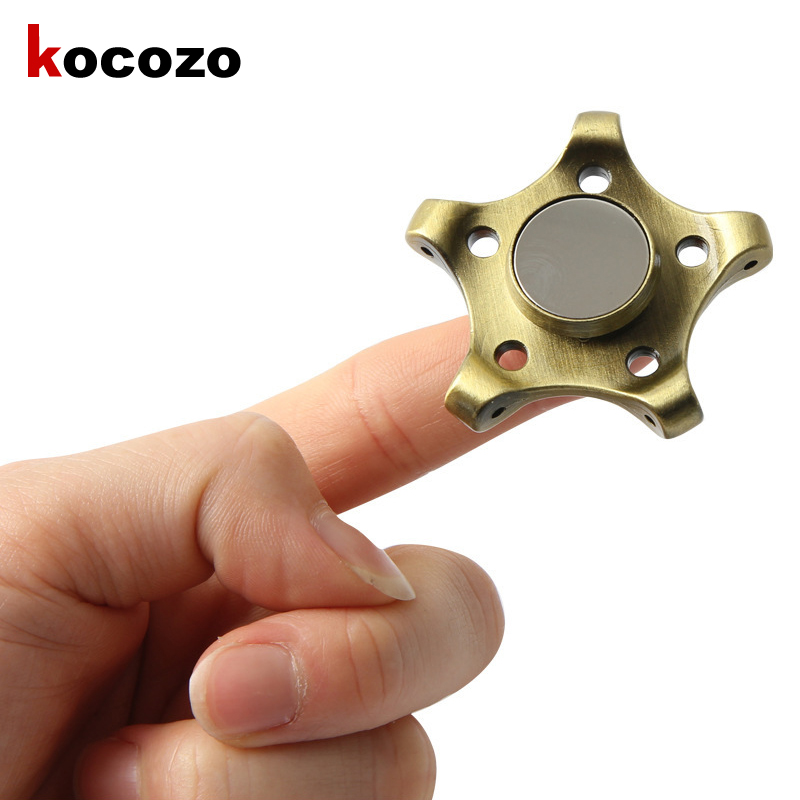 Tri Fidget Spinner Metal Finger Hand Spinners ADHD Autism Focus Toys for Kids Adult Stress Spiner