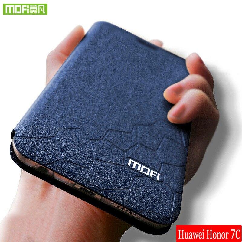 Mofi For Huawei honor 7c case leather back cover for honor 7c case silicon original for huawei honor7c case TPU fundas capa 5.99