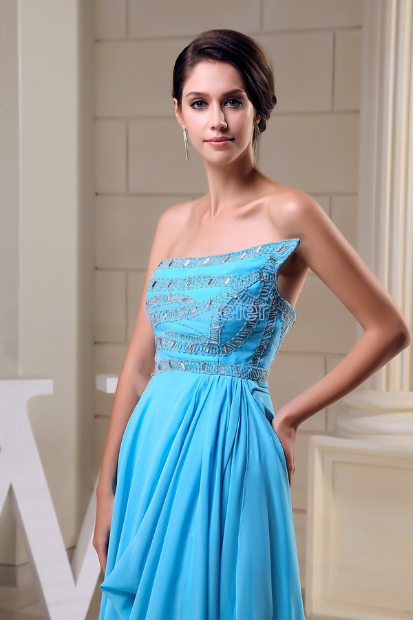 free shipping 2013 zuhair murad new design quality formal gown Custom size/color chiffon crystal beading blue long evening dress