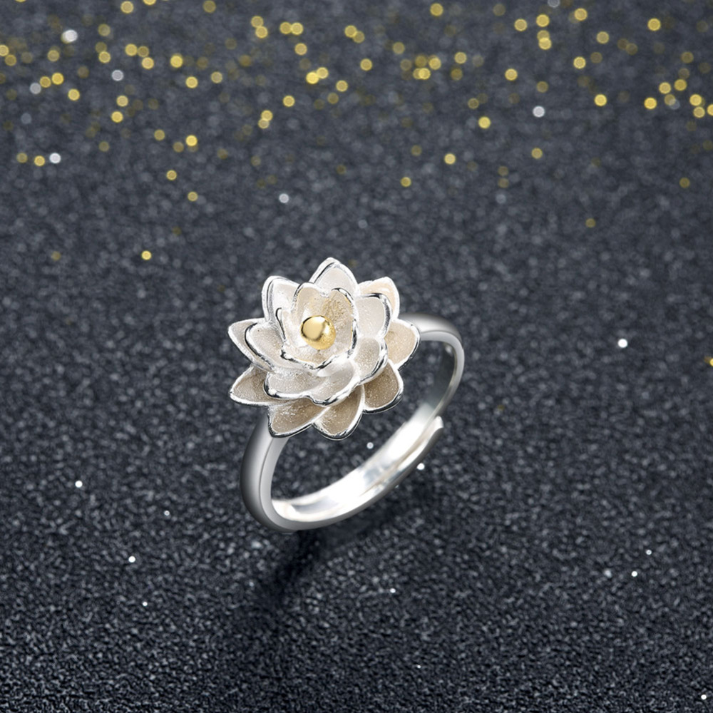 Adjustable rings2017 trendy 925 sterling silver ring for women adjustable rings2017 trendy 925 sterling silver ring for women epicfeat diy snow lotus flower jewelry retro vintage ring svr011 in rings from jewelry izmirmasajfo Images