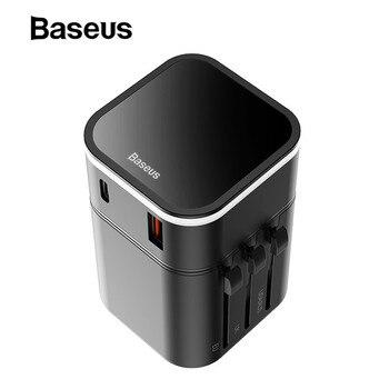 69bd288fa69 Cargador USB Baseus de 18 W carga rápida 3,0 para iPhone X 7 8 3 puertos  cargador de pared de viaje USB rápido carga para iPhone Samsung Xiaomi
