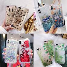 Quicksand Glitter Cases For iPhone XS Max Case Dynamic Liquid Cover For iPhone 7 8 Plus 6 6S X XR Shockproof Phone Shell(China)