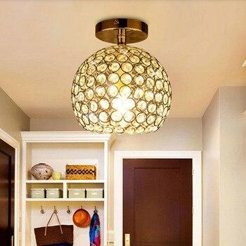Mini Kristall Deckenleuchte Home Decoration Gang Veranda Flur Lampe