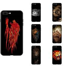 Cool Dier Leeuwen Gezicht Thema Tpu Telefoon Gevallen Silicon Cover Image Photo Voor Iphone 6 7 8 S Xr X plus 11 Pro Max(China)
