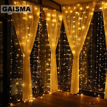 4M x 3/4/5M LED Curtain Lights Wedding Decorations Garland Christmas Fairy Party New Year Garden Holiday Lighting Outdoor