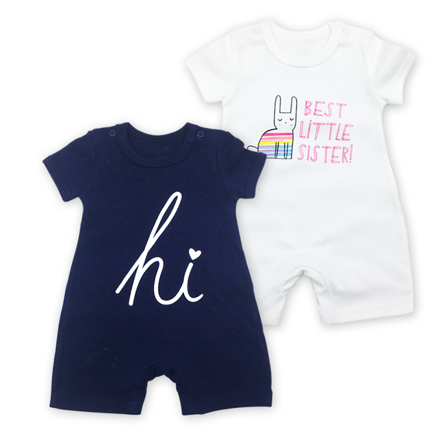 475a3f513d6b Short Sleeve Baby Girl Newborn Baby Romper Infant Jumpsuit Summer ...