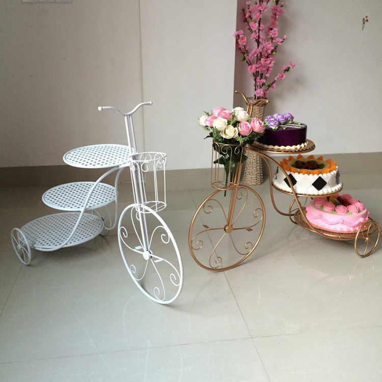 3 camadas de forma de bicicleta cupcake bandeja suporte de exibição rack sobremesas decoração casamento aniversário multicamadas deserto três camadas