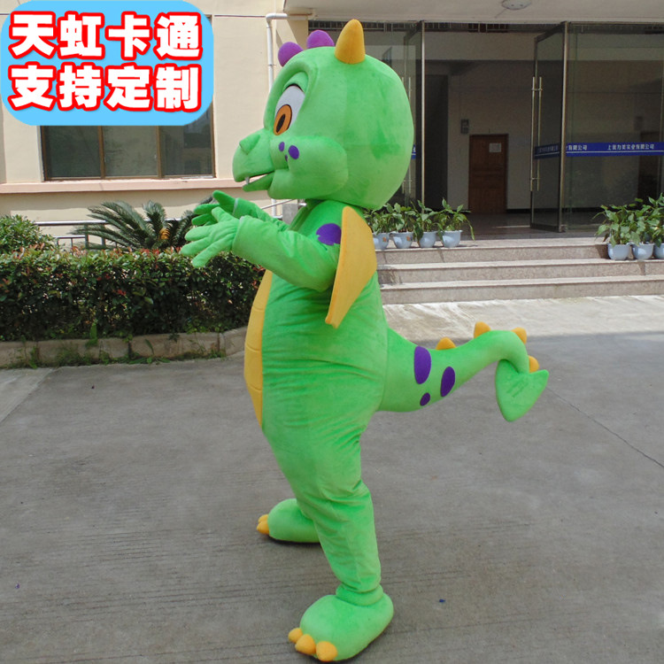 Green Dragon Mascot Costume for Adults Hot Sell Party Costumes Carnival Costumes Fancy Dress Costumes