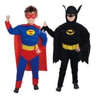 New Arrival Kids Deluxe Muscle Dark Knight Batman Superman Child Halloween Party Fancy Dress Superhero Carnival