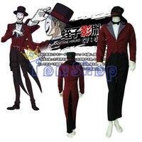 Anime Black Bullet Kagetane Hiruko Cosplay Costume Full Set Men's Halloween Party Costumes Uniform Custom Made Free Shipping