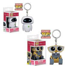 Funko POP Pixar film Wall-E robot EVE keychain children toy pvc action Figure Collection Model Toys for children with retail box(China)