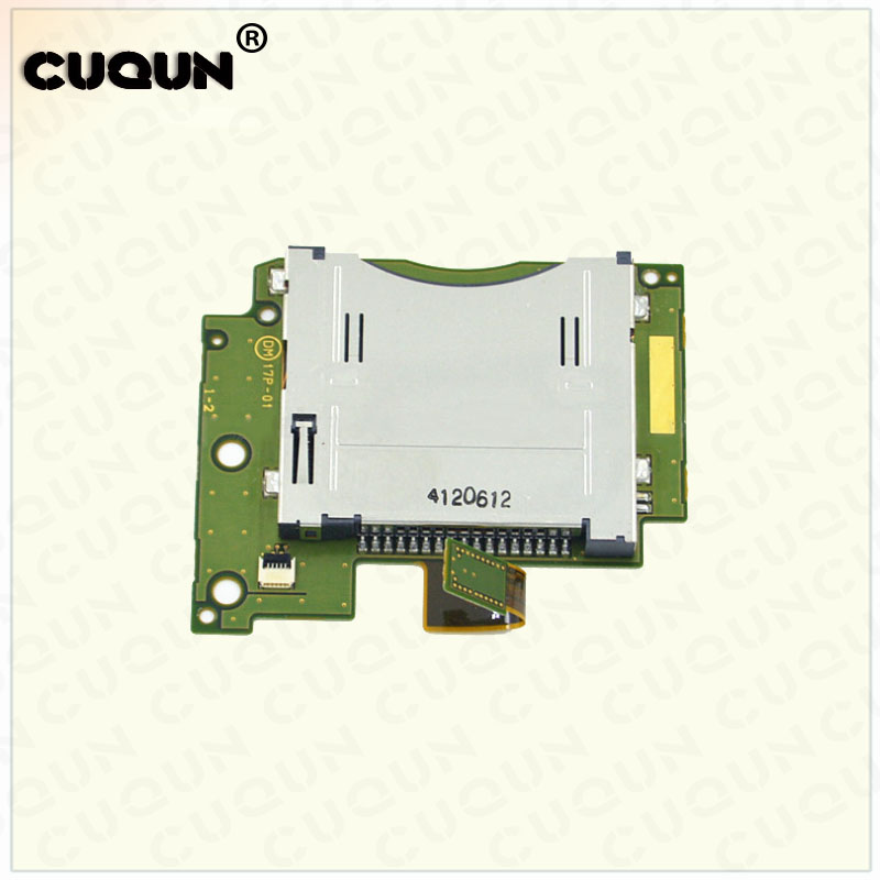 Original Used SD Card Slot Socket Module Main Board Replacement for New 3DS XL for New 3DS LL Host Game Card Slot Console