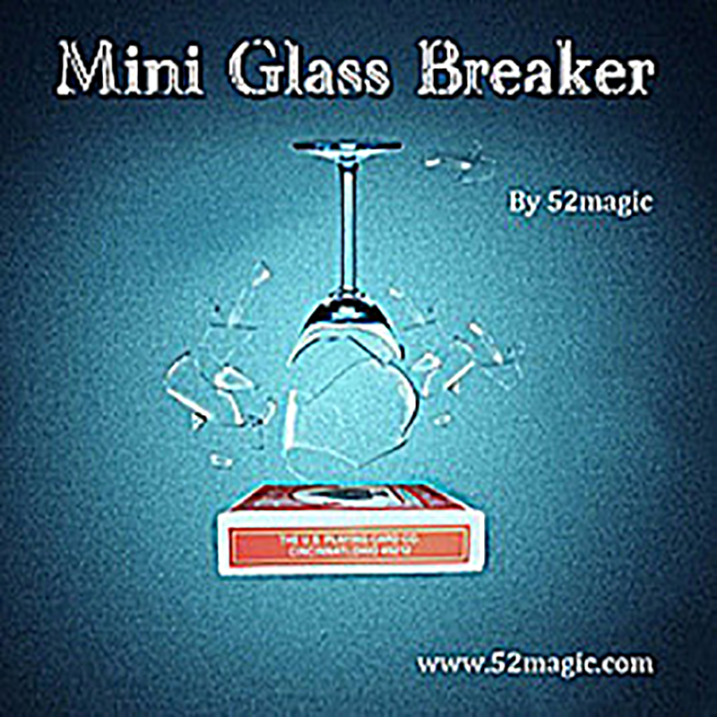 New Mini Glass Breaker card box verson magic tricks magic propsNew Mini Glass Breaker card box verson magic tricks magic props