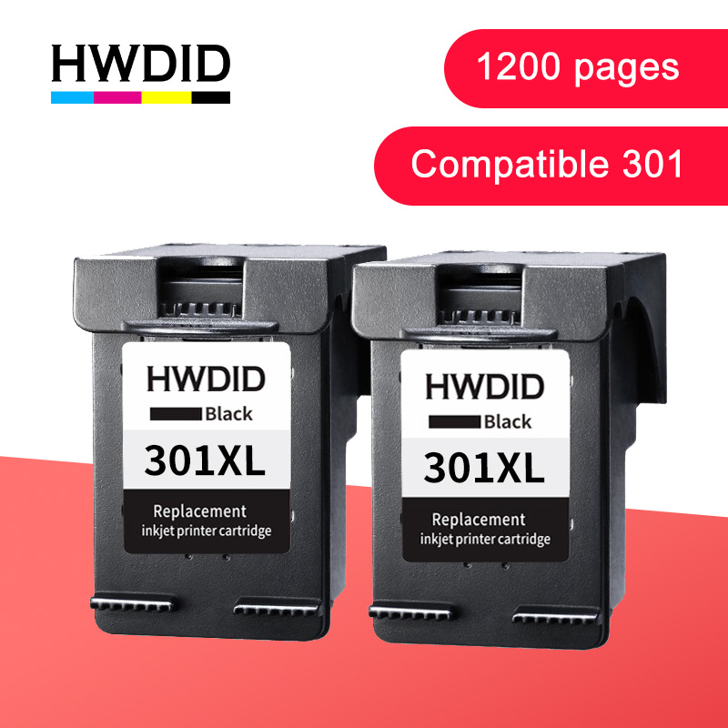 HWDID 301XL Refilled Ink Cartridge For Hp/HP 301 Xl For Compatible Hp/HP301 CH563EE CH564EE For HP Deskjet 1000 1050 2050 3000