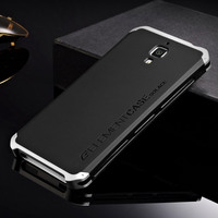 Newest Aluminum Metal Frame Matte PC Back Case For Xiaomi Mi4 M4 Protective Cover For Xiaomi