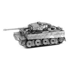 Тигр craft миниатюрный танк головоломки модель металл твердые diy детей игрушки