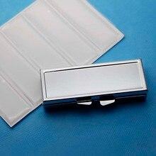 5 шт покрытые серебром металлический контейнер для лекарств эпоксидной смолой Стикеры-пустой отсек контейнер, коробка для таблеток и пробных заказов мы используем PYC03S