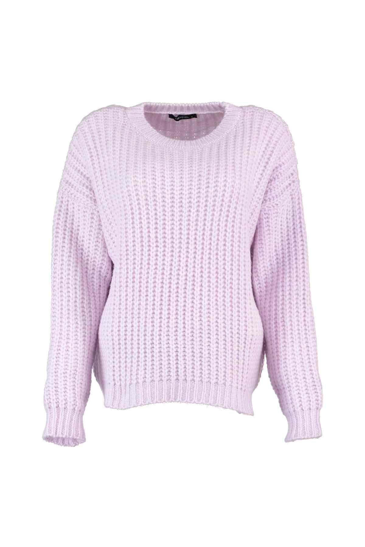 Trendyol WOMEN-Lilac Bike Collar Sweater Sweater TWOAW20ZA0023
