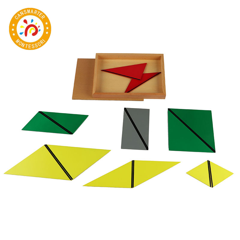 Baby Toy Montessori Materials Wooden Toys Constituting a Triangle Home School Box Geometric Toy Games Jigsaw puzzle - 5