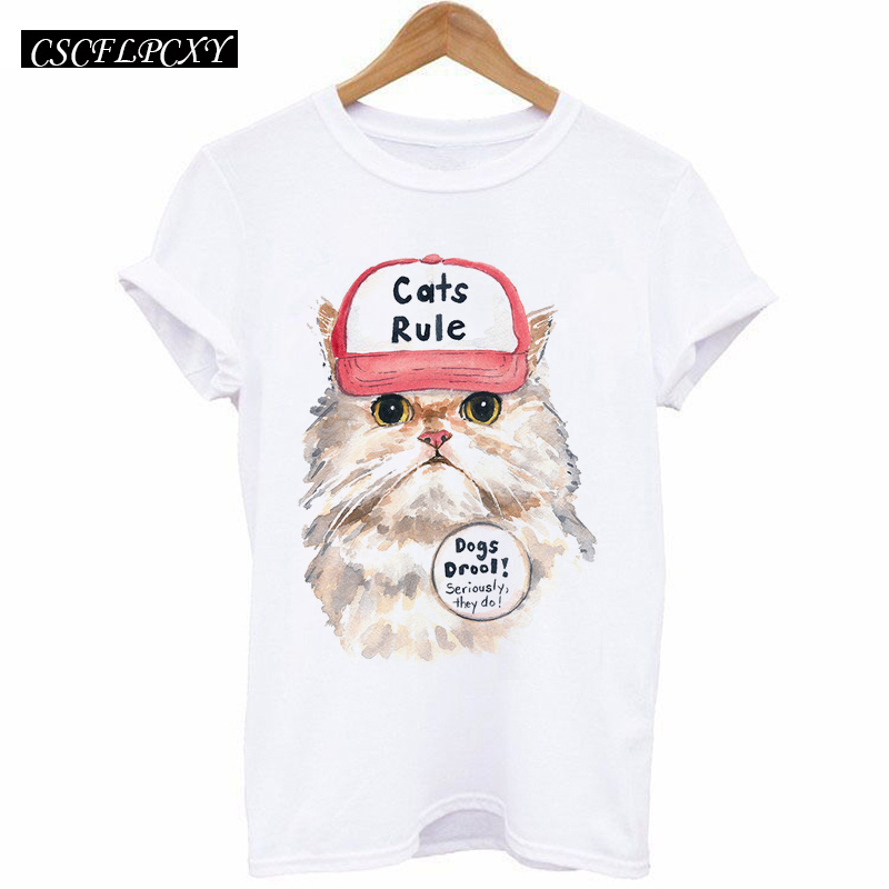 HTB1m7.1k TI8KJjSsphq6AFppXa8 - 2017 Casual T-shirt Women Tshirt Short Sleeve Kawaii Elephant Print Camisetas Mujer Tops Tee Shirt Female O-neck White Tees