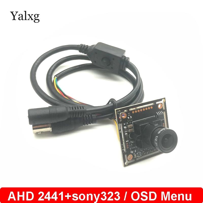 HD 1080P AHD CVI TVI CVBS 4 In 1 Surveillance Camera Module Kit 2.0MP Starlight Camera Board Sony323 Camera Module With OSD Menu ahd cvi tvi cvbs 4 in 1 1 3 6 cmos module 720p 1 0mp with osd function v20e ov9732