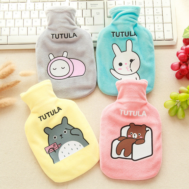 Cartoon Hot Water Heater Bottle Heating Bag Winter Baby Kids Lovely Plush Animal Hand Feet Warmer Keep Warm Water Pocket