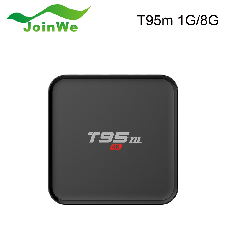 New T95M TV box Amlogic S905X Quad Core Android 6.0 1GB 8GB Private model with  LED display Support KODI 16.0 Smart Media Player