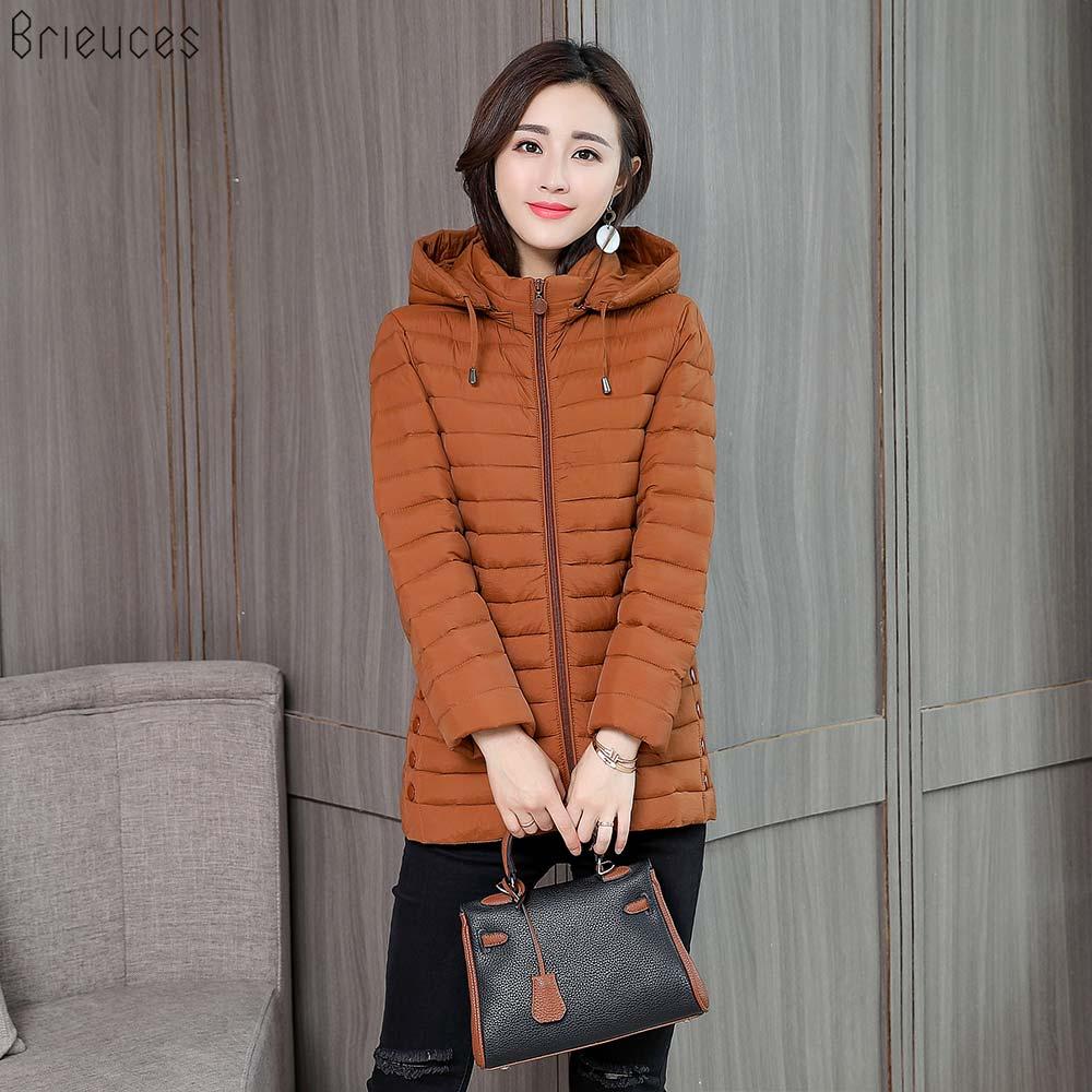 BR Autumn 2018 New   Parkas   basic jackets Female Women Winter plus velvet lamb hooded Coats Cotton Winter Jacket Outwear coat