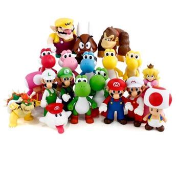 цена на 8-13cm Super Bros Boo Ghost Yoshi Luigi Peach PVC Action Figures Figurines Collectibles Dolls Kids Toys For Boys Girls