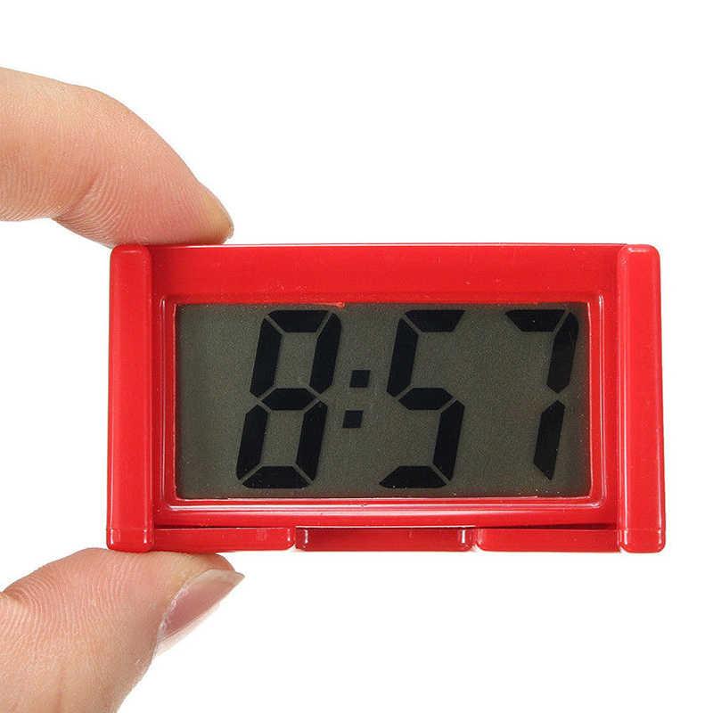 Đơn Giản 1 Mini Màn Hình LCD Kỹ Thuật Số Đồng Hồ Táp Lô Ô Tô Đồng Hồ Để Bàn Đồng Hồ Thời Gian Nhà Đồ Dùng Học Màu Sắc Ngẫu Nhiên
