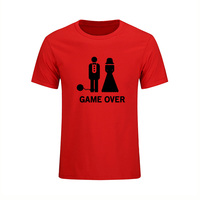 Game Over Marriage Ball And Chain Funny Wedding Gift Mens T Shirt Fashion 2017 Short Sleeve