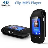 Original MINI mp3 player clip bluetooth 8GB Portable Sport Pedometer music player FM Radio Support Micro SD Card 1.8 Screen