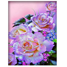 5d diy Diamond Painting cross stitch Needlework  Embroidery diamond mosaic Patterns flower kits round Resin picture